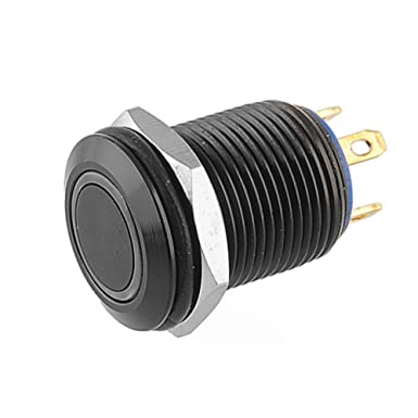 Supmico Schwarz Kfz 12mm Blaue Led Licht Lampe 2a Momentaner Druckknopf Wasserdicht Kippschalter Schalter Gewerbe Industrie Wissenschaft