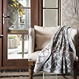 """Knitted Throw Blanket 100% Acrylic Soft Couch Cover Cozy Sofa Knit blanket - Gery, 50""""x60"""" by Bedsure"""