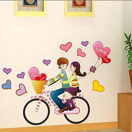 Makeyong Niño Y Niña De Dibujos Animados Amante De La Bicicleta ...