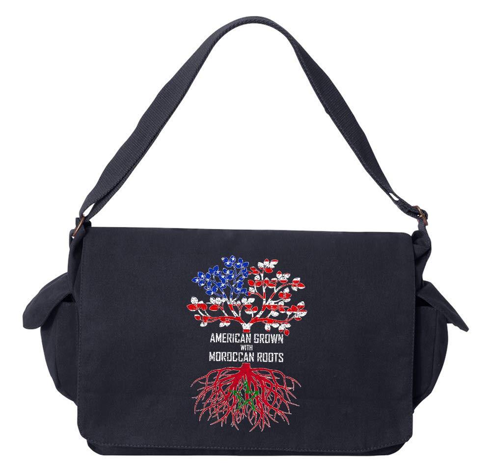 Tenacitee American Grown with Moroccan Roots Flamingo Raw Edge Canvas Messenger Bag