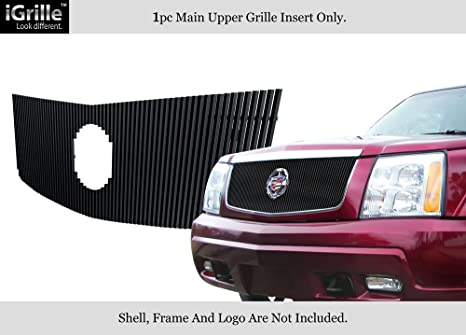 Fits 2002-2006 Cadillac Escalade Stainless Black Vertical Billet Grille #A65770J