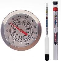 Balliihoo Homebrew hidrómetro y 300mm Brewing Dial Termómetro–Homebrew