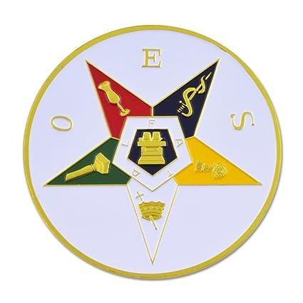 Amazon Masonic Order Of The Eastern Star Round Car Auto Emblem