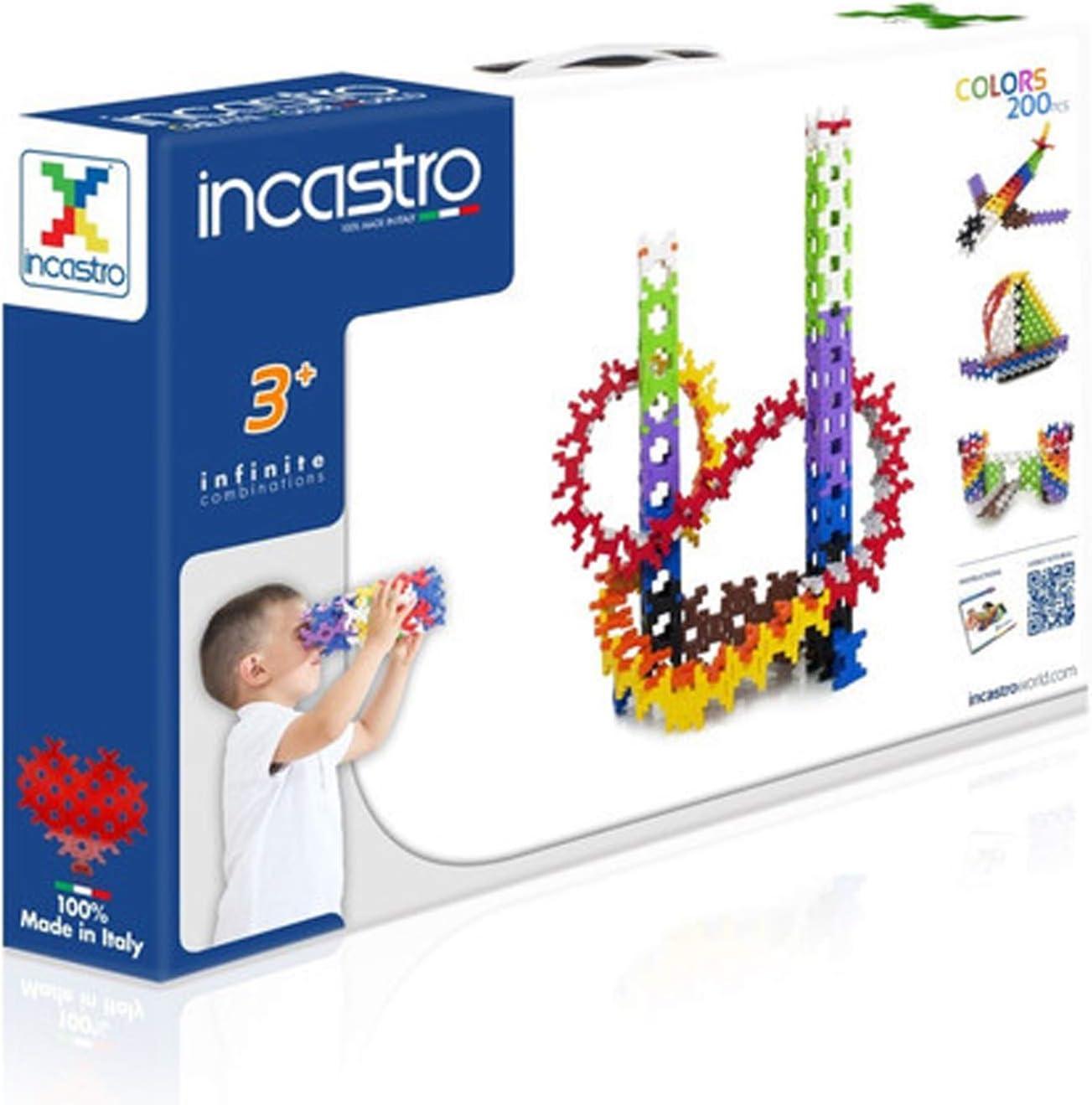 Multi-Colour Pack of 200 /Game of Construction Clip Box incastro Designer 042/