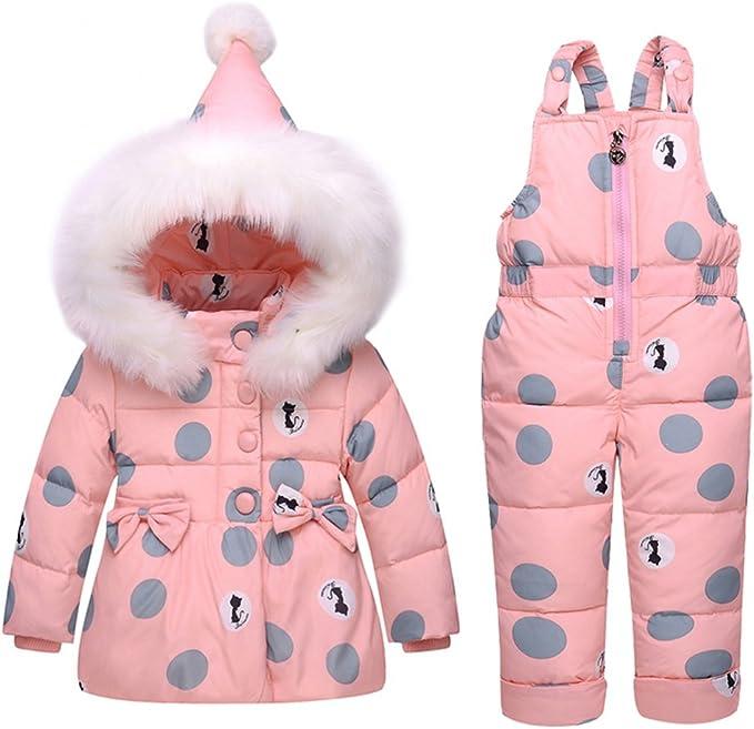 Amazon.com: LSERVER 1-3T - Chándal para bebé (plumón rosa ...