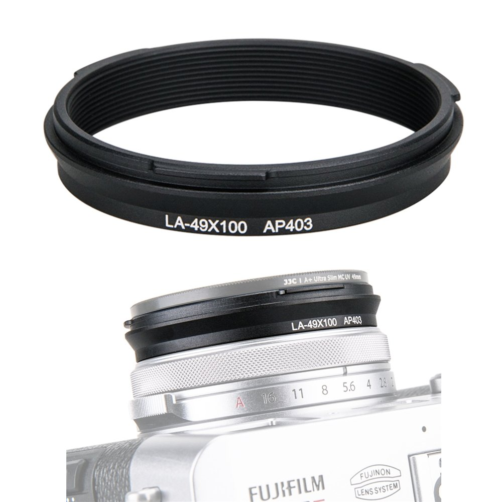 JJC 49mm Metal Filter Adapter Ring Lens Adapter Connector for Fujifilm X100F X100T X100S X100 X70 Installing UV Protector CPL Circular Polarizer ND Neutral Density Filter, Replaces Fuji AR-X100 /Black Jinjiacheng Photography Equipment Co. Ltd.