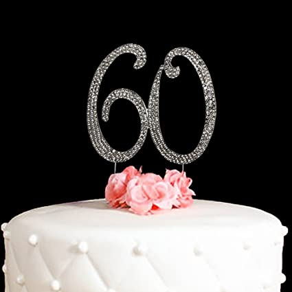 Amazon.com: 60 Cake Topper for 60 Years Birthday Or 60TH Wedding ...