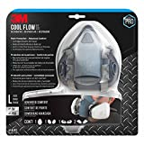 3M Pro Half Facepiece Reusable Respirator All-in-One Kit, Paint Protection - Advanced Comfort, L (1 Mask, 1-pair Cartridges, 2-pair Filters and 1-pair Retainers)