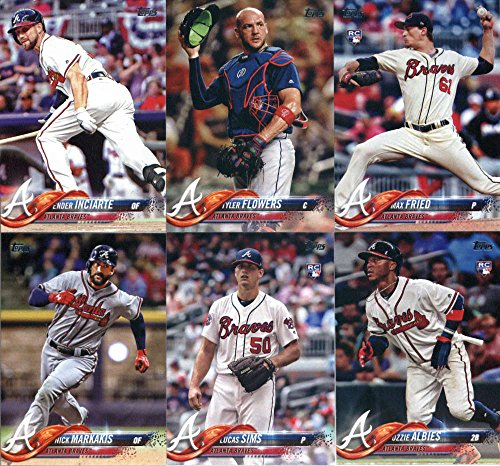(2018 Topps Complete (Series 1, 2, Update) Atlanta Braves Team Set of 38 Cards in a 4-Pocket Notebook: Mike Foltynewicz(#71), Atlanta Braves(#135), Luiz Gohara(#138), Dansby Swanson(#167), Matt Adams(#178), Matt Kemp(#183),)