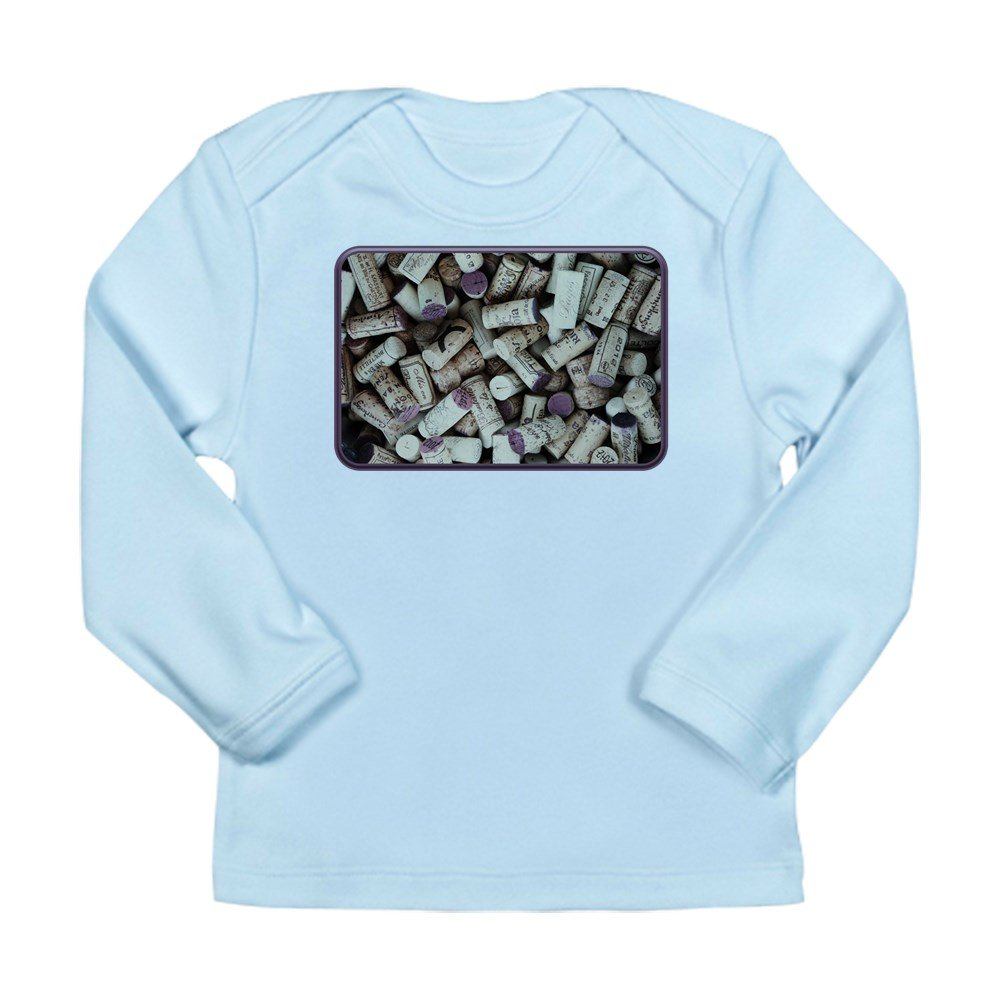 3 to 6 Months Sky Blue Truly Teague Long Sleeve Infant T-Shirt I Love Wine Corks