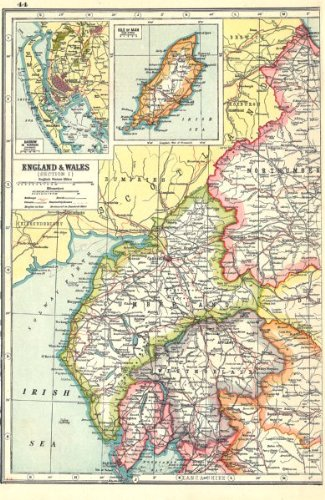 Map Of Nw England.Amazon Com England Nw Cumbria Westmorland Inset Barrow In Furness