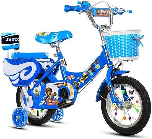 YWZQ Bicicleta para niños, Bicicletas para niños y niñas Asientos portátiles neumáticos Antideslizantes Resistentes Frenos Dobles Seguros y sensibles, Regalos de Juguetes para niños,Azul,20: Amazon.es: Hogar