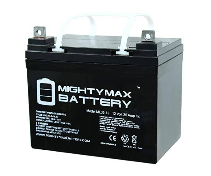 Best for Budget: Mighty Max Battery ML35-12 -12V 35Ah UI Deep Cycle AGM Solar Battery