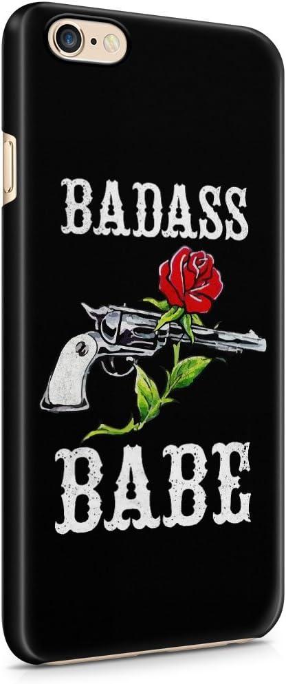 Badass Babe Rose rouge et Revolver Plastique téléphone Snap On ...