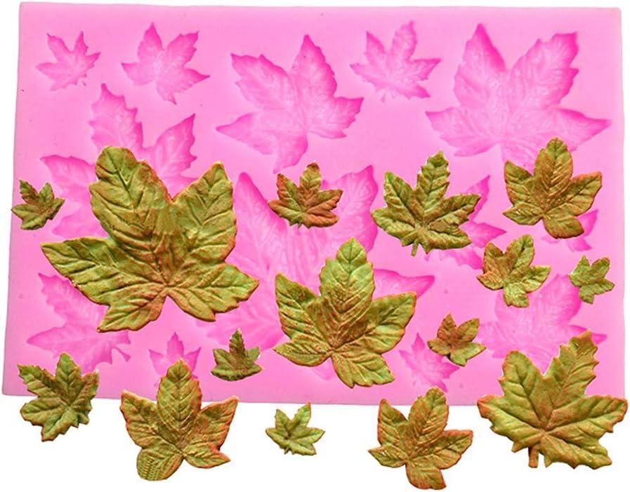 Efivs Arts DIY 3D Maple Leaf Parthenocissus ivy Shaped Silicone Mold Fondant Mold Cupcake Cake Decoration Tool 3.8