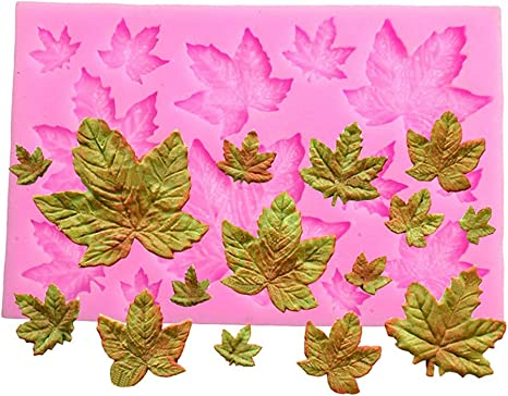 DIY Leaves Shape Silicone Cake Decor Fondant Craft Mould Baking Mold White Acces