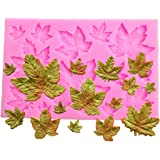 "Efivs Arts DIY 3D Maple Leaf Parthenocissus ivy Shaped Silicone Mold Fondant Mold Cupcake Cake Decoration Tool 3.8"""