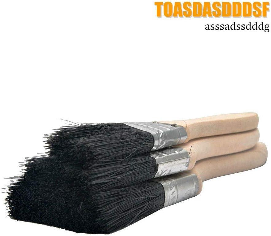 marr/ón 3,81 cm y 5 cm juego de 5 unidades de 2,5 cm Juego de pinceles de pintura desechables BE-TOOL para un corte preciso en todos los tipos de pinceles de pintura