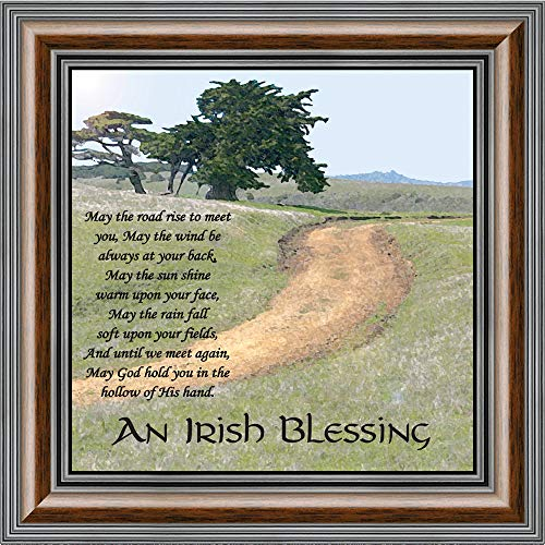 an Irish Blessing Picture Frame, an Irish Blessing, Irish Blessing Picture Frame, May The Road Rise to Meet You, 10x10 8586W