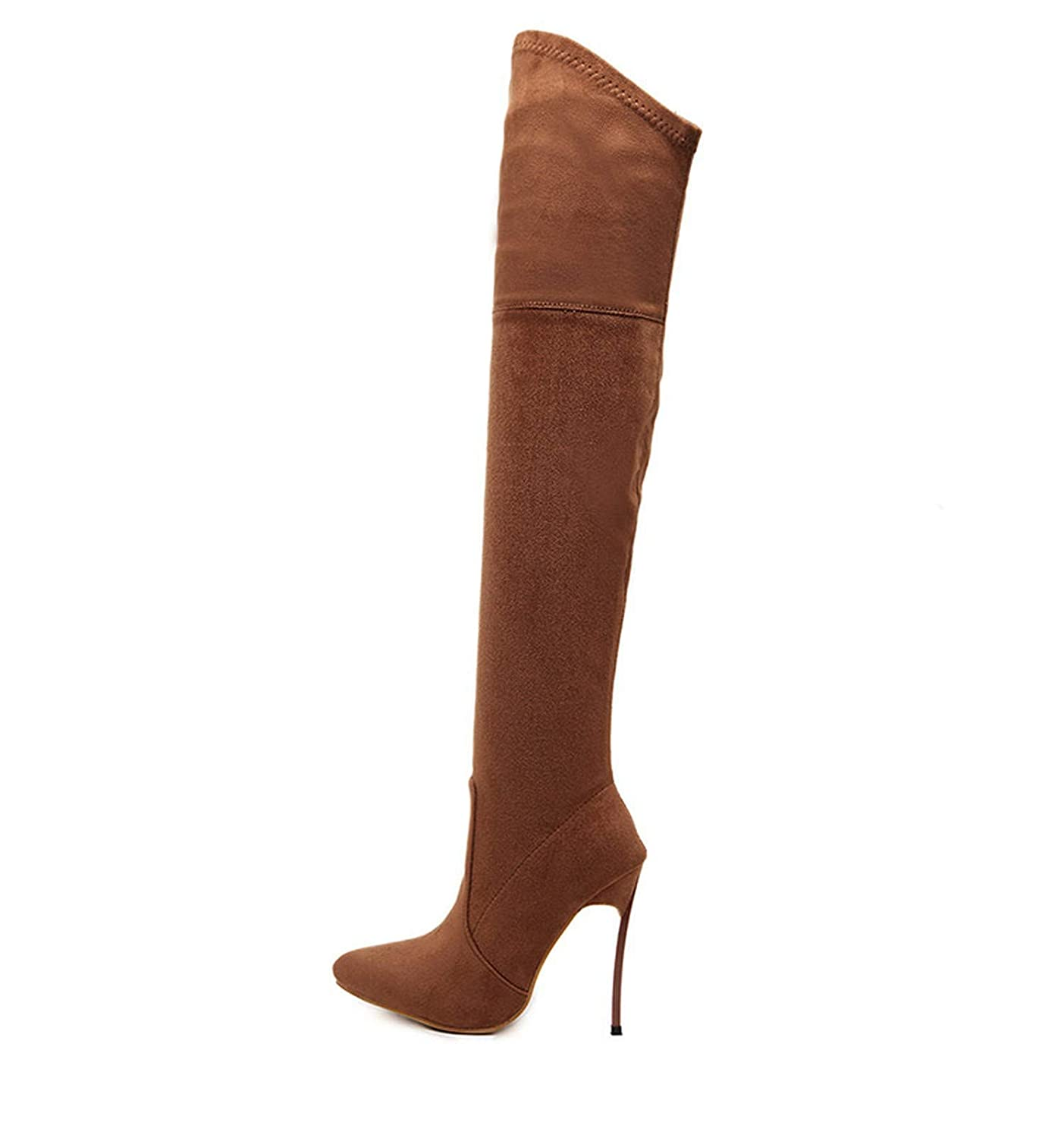 Autumn Winter Women Boots Stretch Slim Thigh High Boots Fashion Over The Knee Boots High Heels Shoes