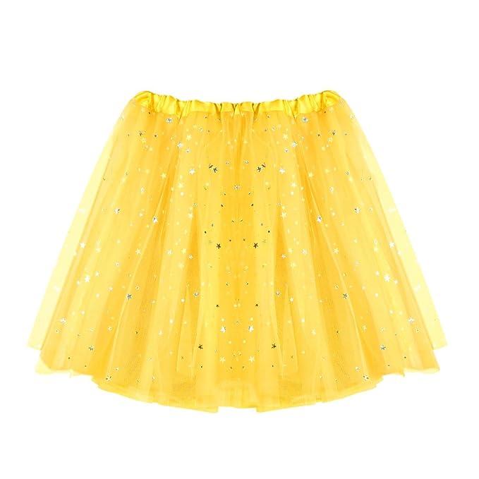 16b72d7ccb TIMEMEAN Falda Corta para Mujer Gasa Plisada Falda Falda De Baile De Tutú  para Adulto  Amazon.es  Ropa y accesorios