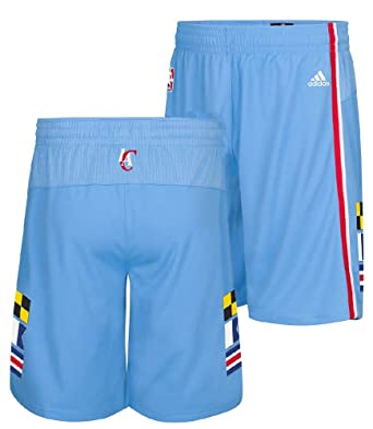 Los Angeles Clippers Lt. Blue Embroidered Swingman Shorts By Adidas (S=32-