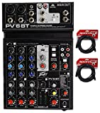 Peavey PV 6BT PV6BT Mixer, 2 Mic In, Bluetooth/USB/Compressor/FX+(2) XLR Cables
