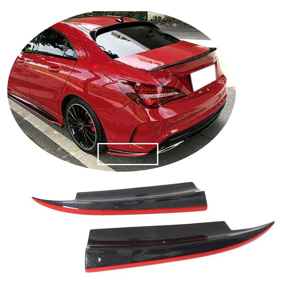 MCARCAR KIT Rear Bumper Splitter fits Mercedes Benz CLA Class W117 C117 CLA45 AMG Sedan 2013-2019 Carbon Fiber CF CLA200 CLA250 Sport Spoiler Winglets Vents Flaps (Carbon Fiber)