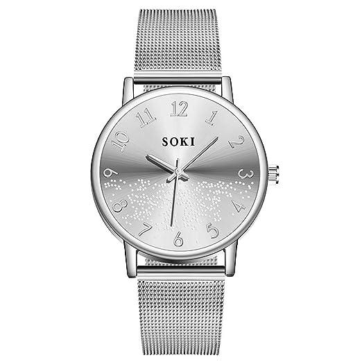 Red de Personalidad de Marcado Digital Simple y Elegante de Negocios discretos de SOKI para Hombres con Reloj de Cuarzo Relojes Pulsera Reloj Iinteligente ...
