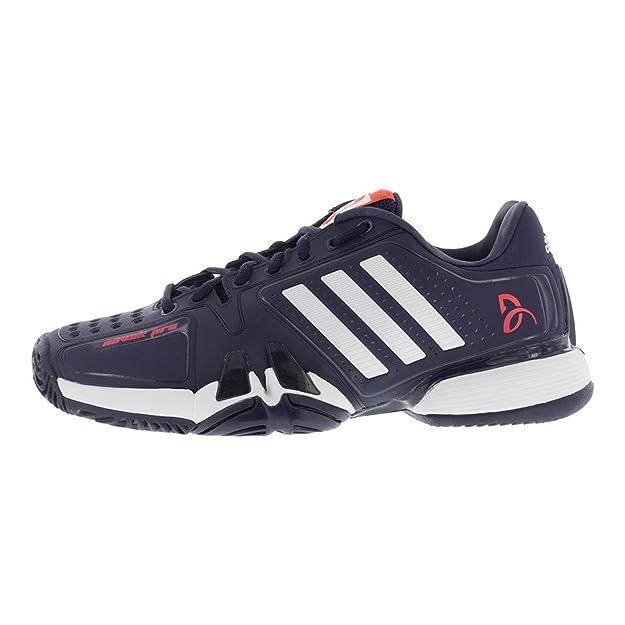 buy online 98583 e1861 Amazon.com   adidas Barricade 7 Novak Pro Men s Tennis Shoe Core  Navy White Red (10.5)   Tennis   Racquet Sports