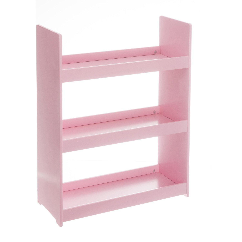 Children's wooden bookcase - 3 shelves - Colour PINK ATMOSPHERA