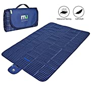 Large Camping Lightweight Outdoor Blanket 78 x57  Waterproof and Sandproof Beach Blanket by MIUCOLOR for Travelling Hiking Grass Dual Layers