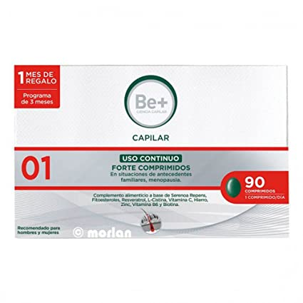 Be+ Capilar Anticaida Comprimidos Uso Continuo Forte, 90Comprimidos