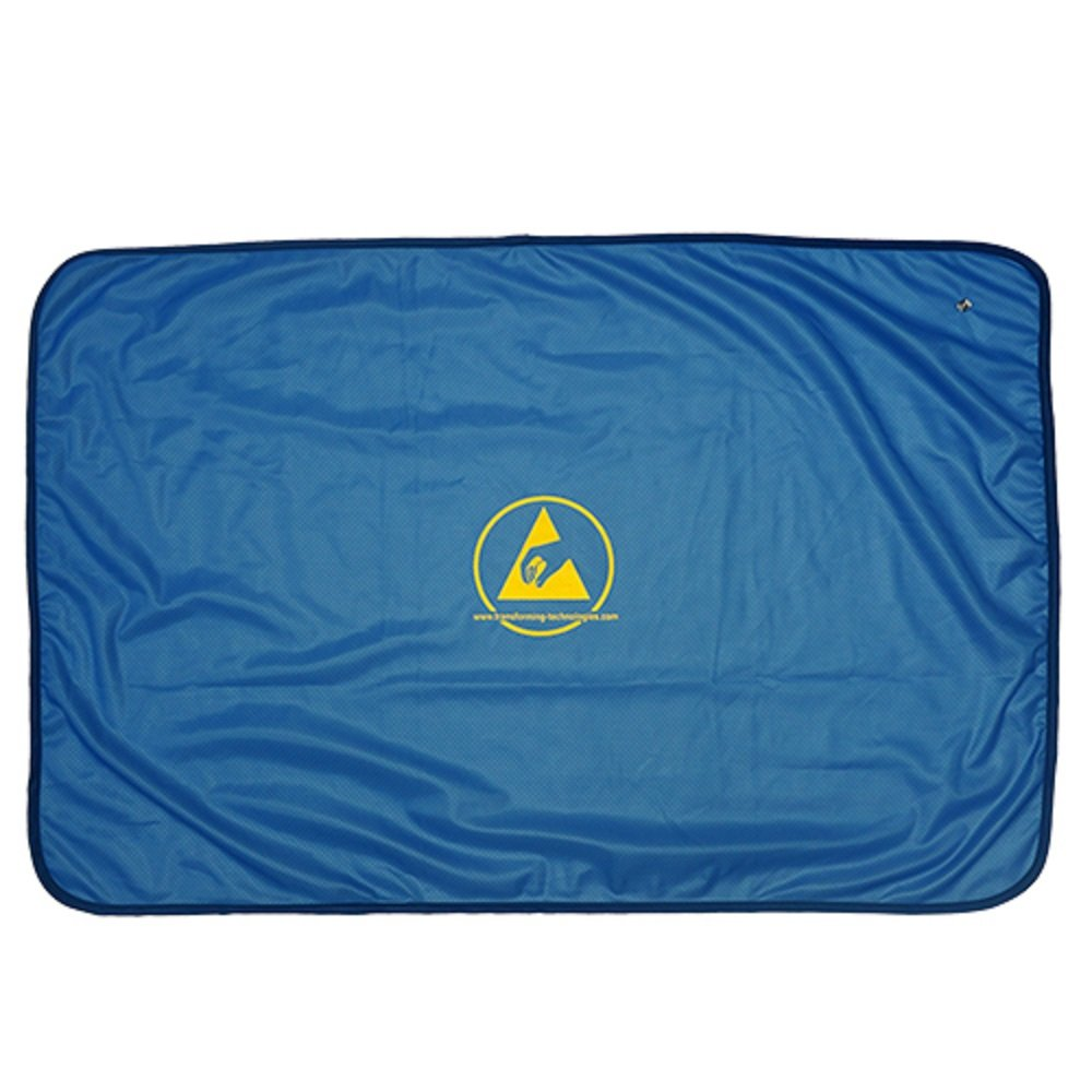 StaticTek WC Series Grounding Accessories ESD Safe Workstation Cover ESD Protection for Static Dissipative Workstations with ESD Logo, 72''x36'', Blue | TT_WC7236B
