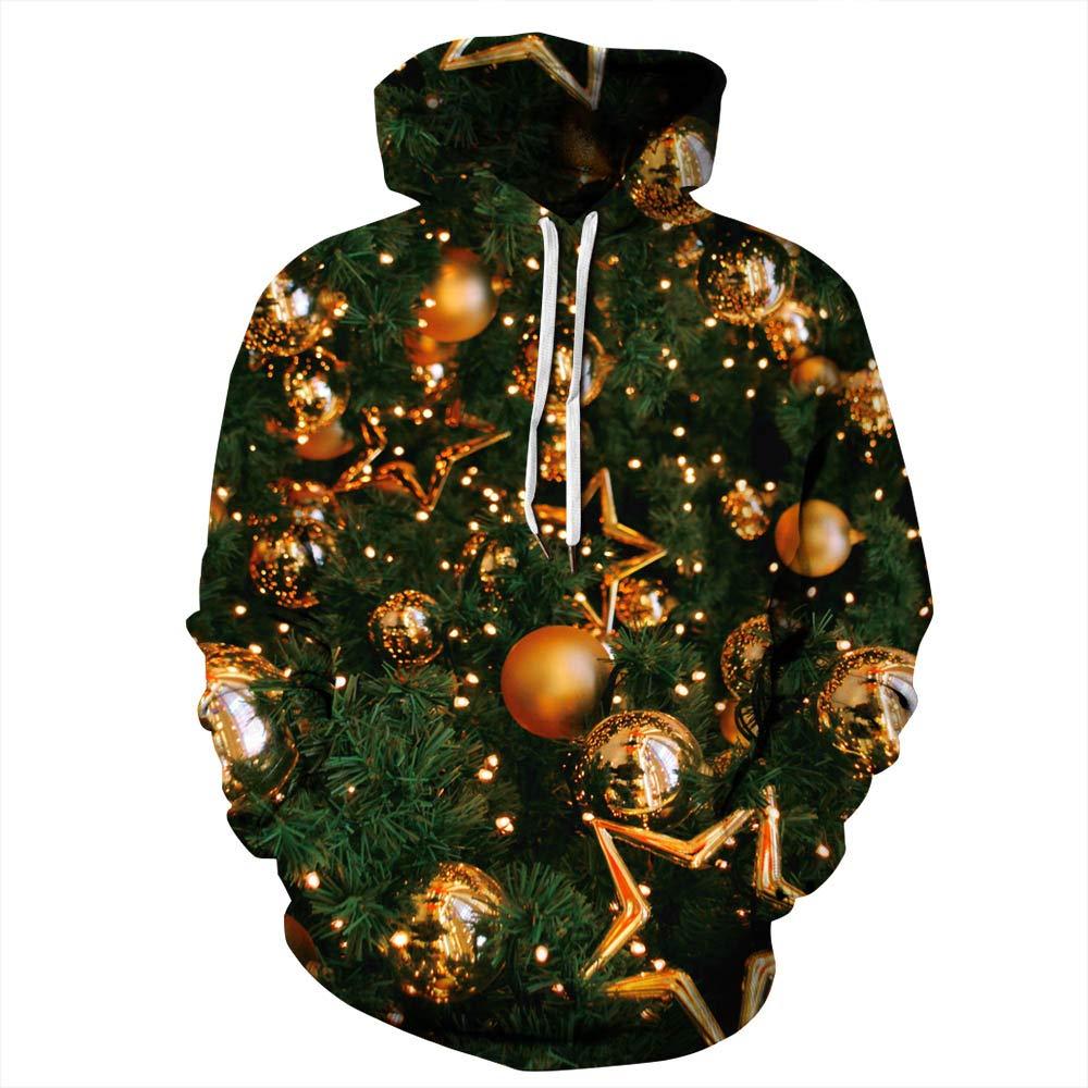 URVIP Unisex Christmas Theme 3D Printed Pullover Fashion Hoodies Sweatshirts QYDM-388 XXL/XXXL by URVIP