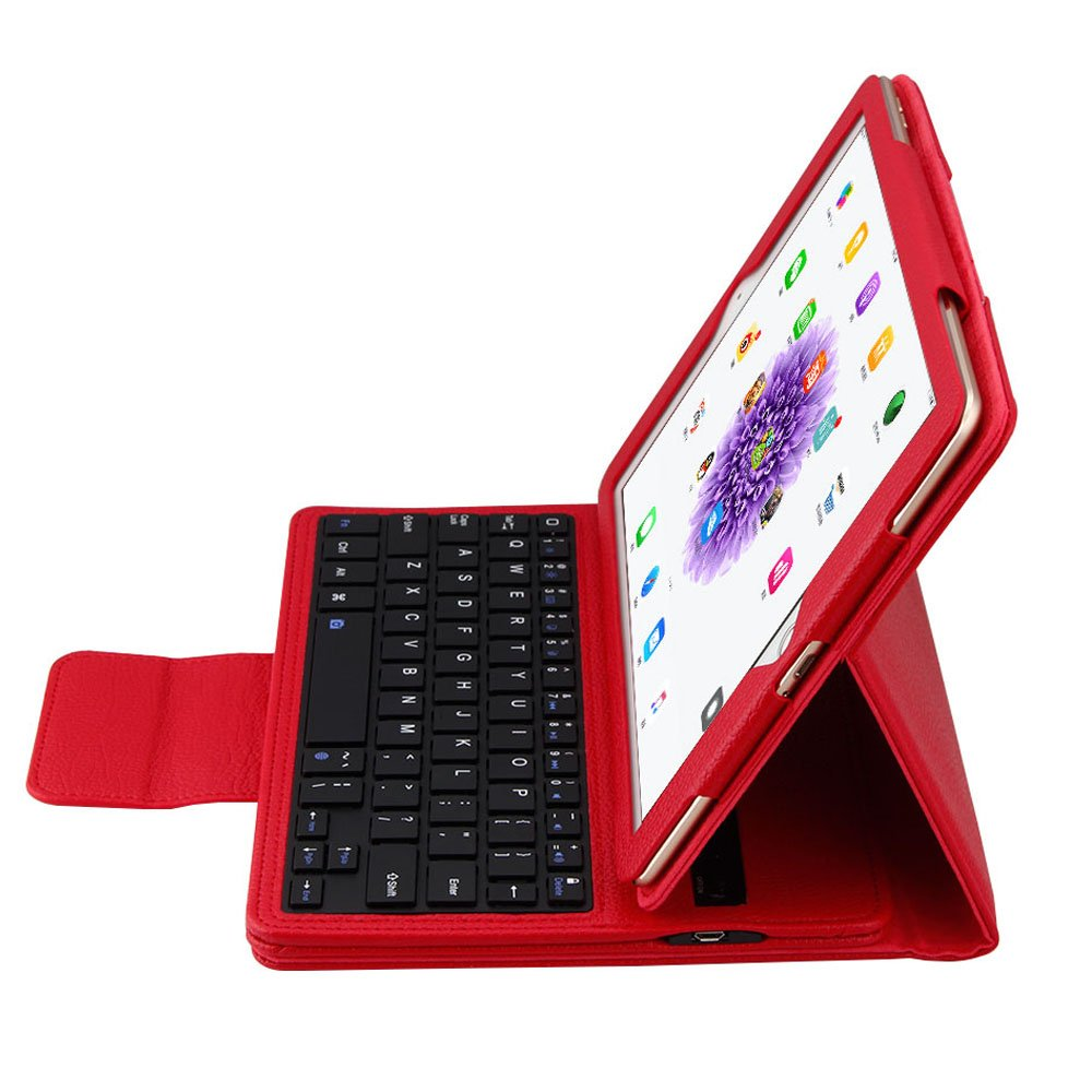 New iPad 9.7 2017//2018 Tableta Pink iPad Air 1 Wineecy iPad 9.7 Teclado Funda Premium Funda con Bluetooth inal/ámbrico QWERTY Teclado Case para Apple iPad Pro 9.7 iPad Air 2