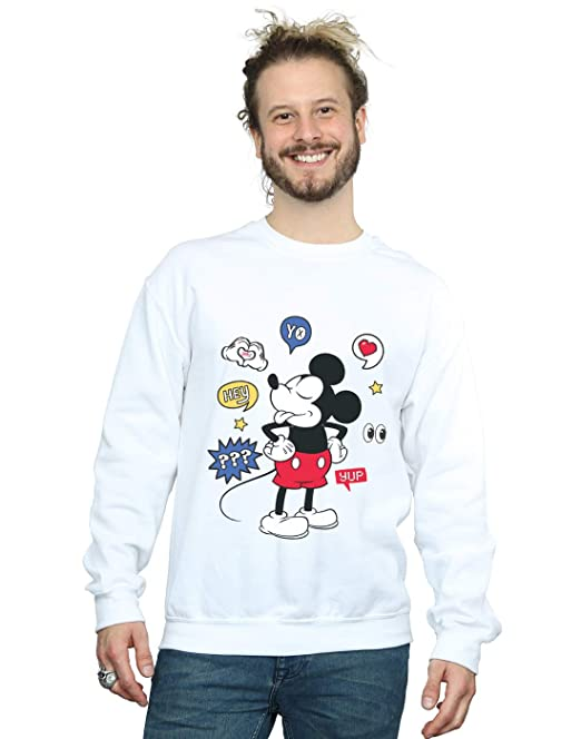 Disney Hombre Mickey Mouse Tongue out Camisa De Entrenamiento: Amazon.es: Ropa y accesorios