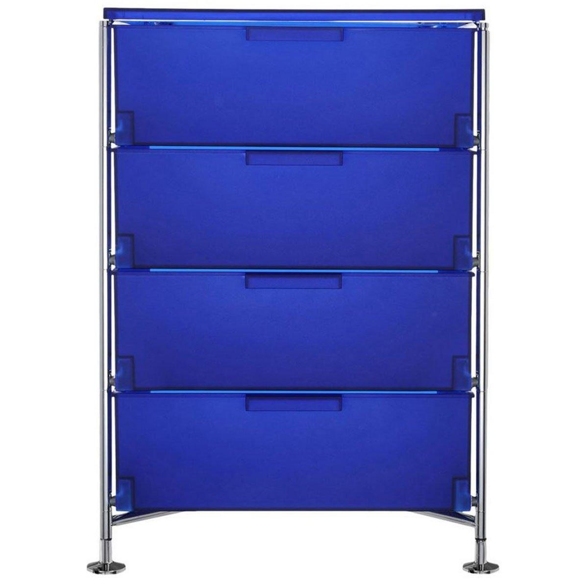 Kartell 2335L7 Container Mobil, 4 Schubladen, blau