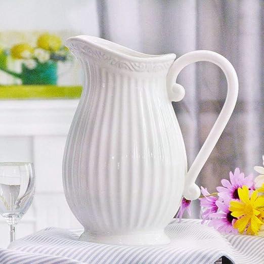 BAIJJ Florero de cerámica Europea, Centro de Mesa Decorativo para ...