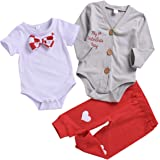 e62a6f642 Baby Boys My 1st Valentine's Day Costumes Gentleman Outfits Bow Tie Clothes  Romper Coat Love Heart