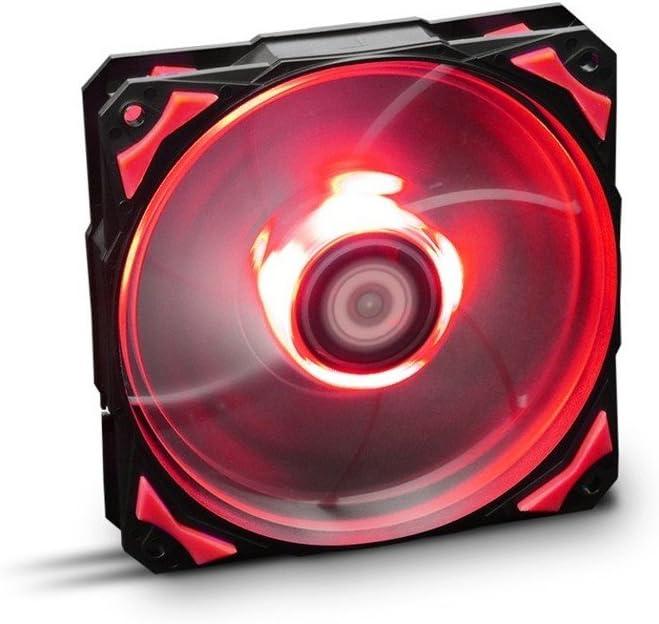Nox H-FAN - NXHUMMERF120LR - Ventilador para Caja PC, 12 cm, LED Rojo