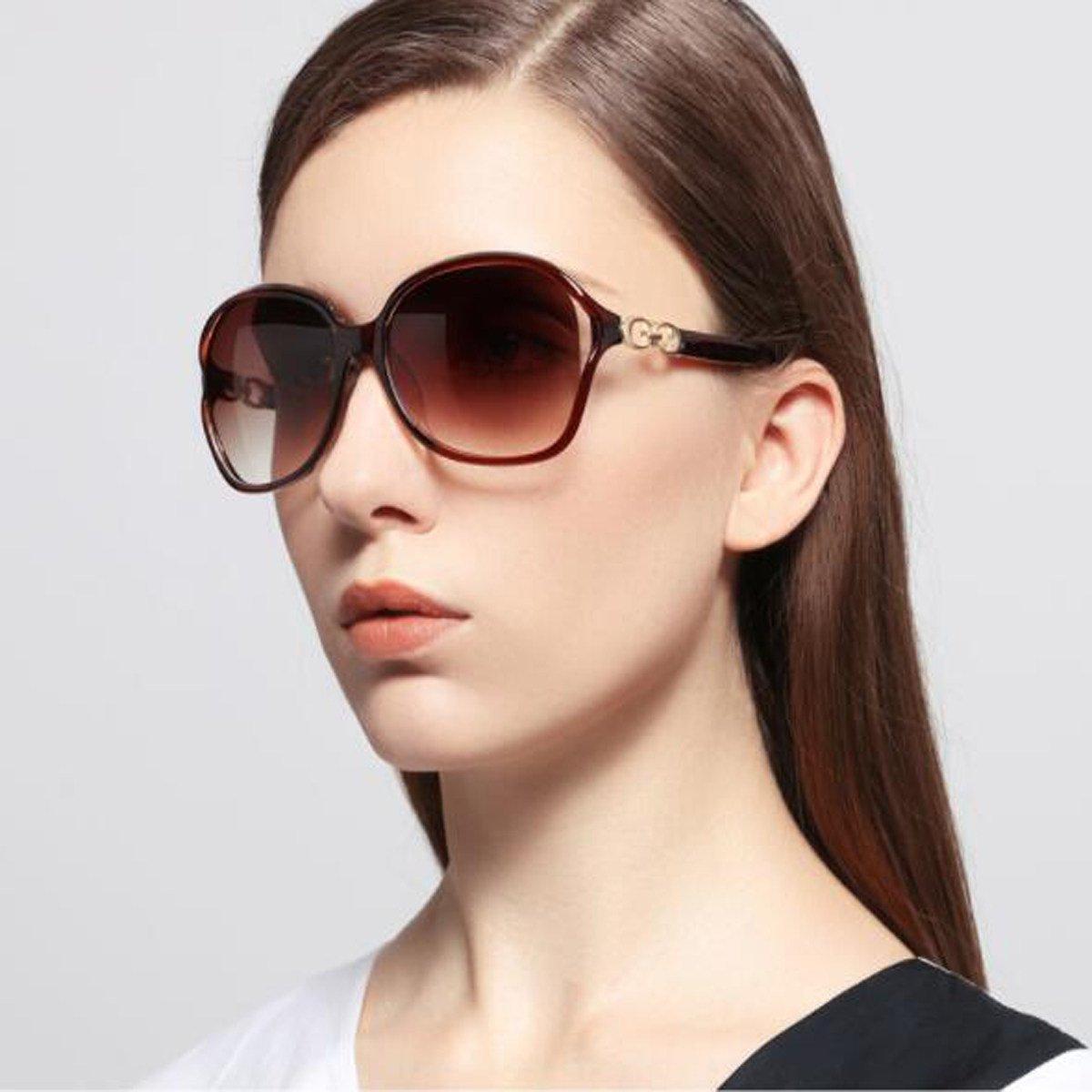 f04a5d4ac4 LQQAZY Gafas De Sol Subtropicales Femeninas Elegantes Hipster Gafas De Sol  Cara Redonda Limpias Elegantes Gafas De Sol,Leopard: Amazon.es: Jardín