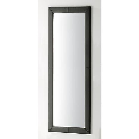 Adec - Espejo tapizado, medidas 60 x 3 x 160 cm, color negro