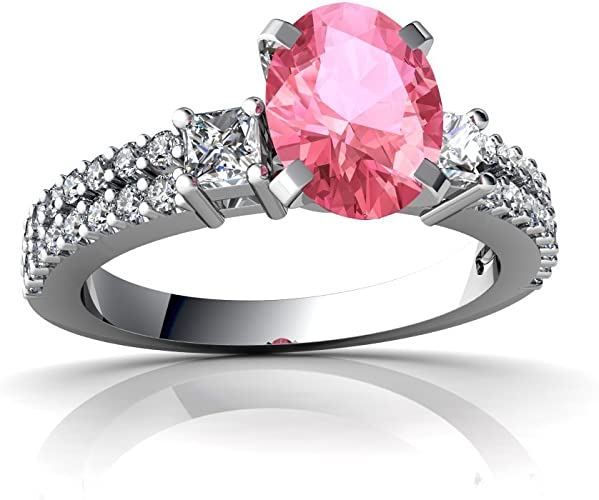 FT-Ring Red Fire Opal Tourmaline Zircon Fashion Jewelry Ring For Women Wedding Bridal Rings