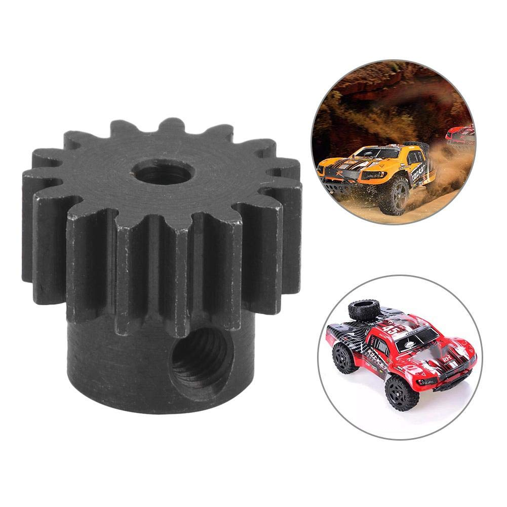 1//16 RC Car Gear 15T Pinion Gear Motor Upgrade Parts for 1//16 Model Truck Car