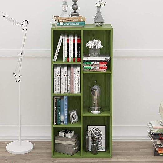 Cubo de 5-8 Reversible Estantería decorativa, Green Multifuncional Estantería de bambú Estrecha Estante organizador del almacenaje Montaje fácil Moderno Para los registros y libros-D 50x24x106cm(20x9x42inch): Amazon.es: Hogar