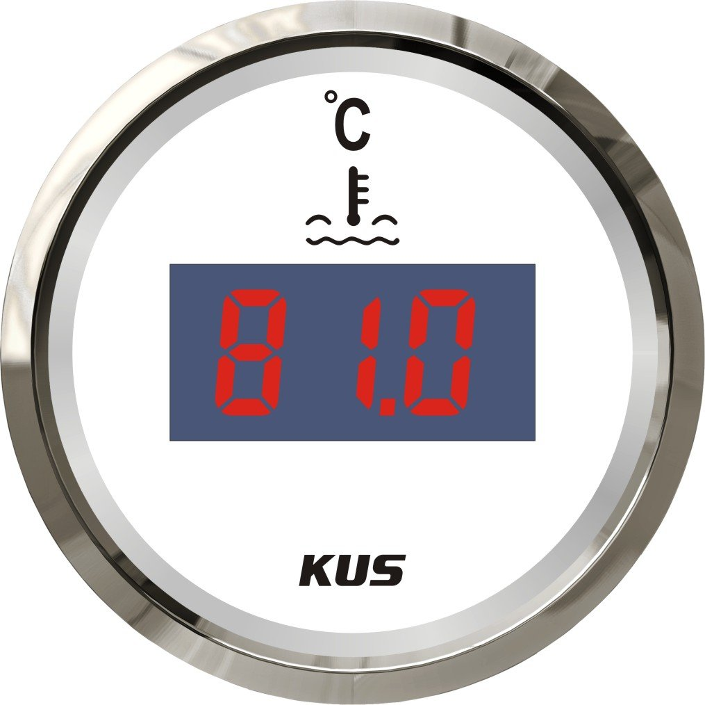 KUS Digital Water Temp Gauge Meter 25-120° C 52MM(2') SPR