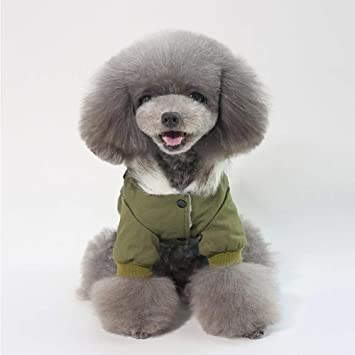 RONDA - Abrigo de Invierno para Perro, Abrigo para Mascotas, Ropa para Perro, para otoño, Ropa de Invierno, Abrigo Militar cálido para Perros: Amazon.es: ...