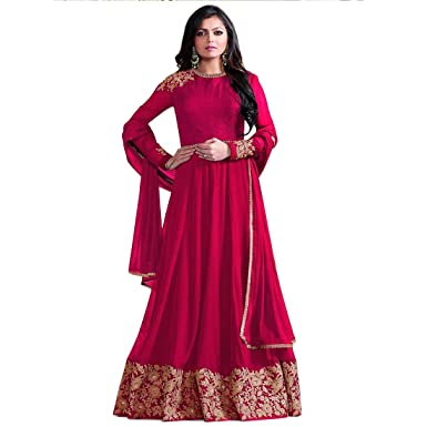 90214550dd YOYO Fashion Designer Latest Georgette Embroidred Anarkali Salwar Suit:  Amazon.in: Clothing & Accessories