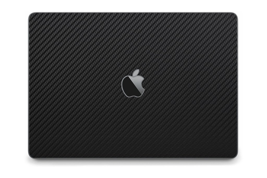 iCarbons Black Carbon Fiber Skin Wrap for MacBook Pro 13'' (Late 2016-Current, No Touchbar) Full Combo